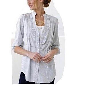 Odille Anthropologie Side Ticking Stripe Tunic XS